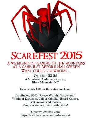 Asheville Scarefest print poster