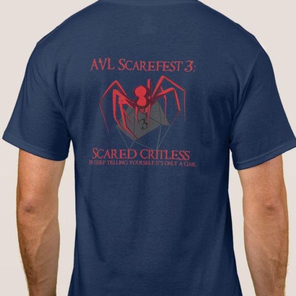 AVL Scarefest 2017 blue t-shirt