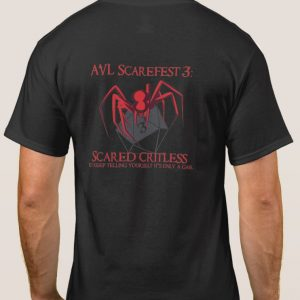 AVL Scarefest 2017 t-shirt back