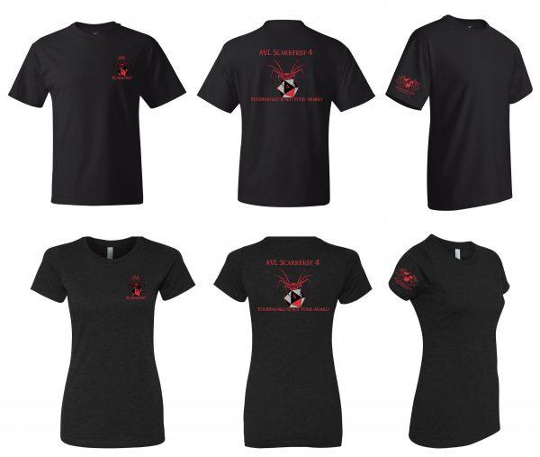Scarefest 4 t-shirts