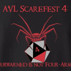 Scarefest 4 T-shirt back design
