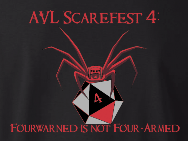 Scarefest 4 T-shirt back design
