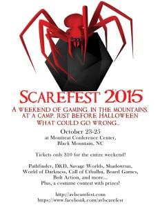 Asheville Scarefest promo poster