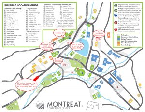 Map of Montreat Conference Center with Scarefest guides